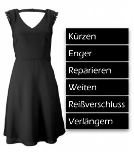 Kleid kürzen, enger, reparieren, weiten