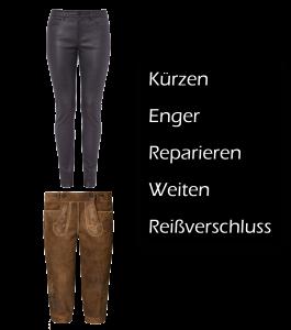 Lederhose, Tracht, kürzen, enger, reparieren, weiten, reißverschluss