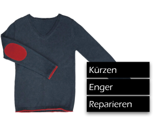 Pullover Kürzen, Enger, Reparieren