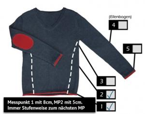 oberteilenger2 300x235 - Pullover - Messung - Kürzen - Reparieren