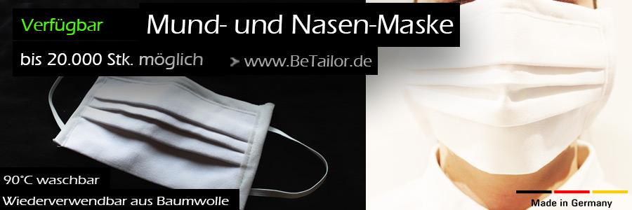 Behelfs-Mund-Nasen-Schutz-Maske