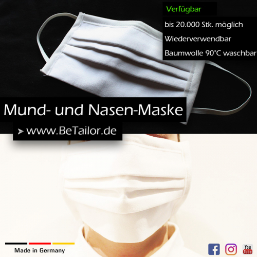 Behelfs-Mund-Nasen-Schutz-Masken